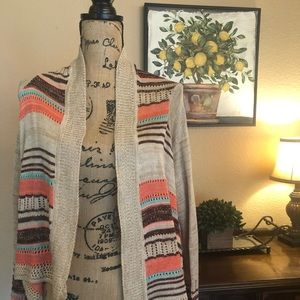 🍋Francesca Cascading Cardigan Sweater
